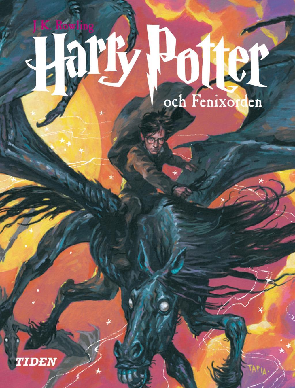 Harry Potter Book Covers Swedish ~ Harry potter och fenixorden av j k rowling kartonnage
